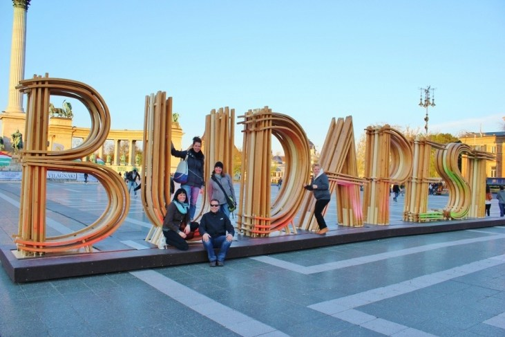 Friends in Budapest: At Heroes' Square