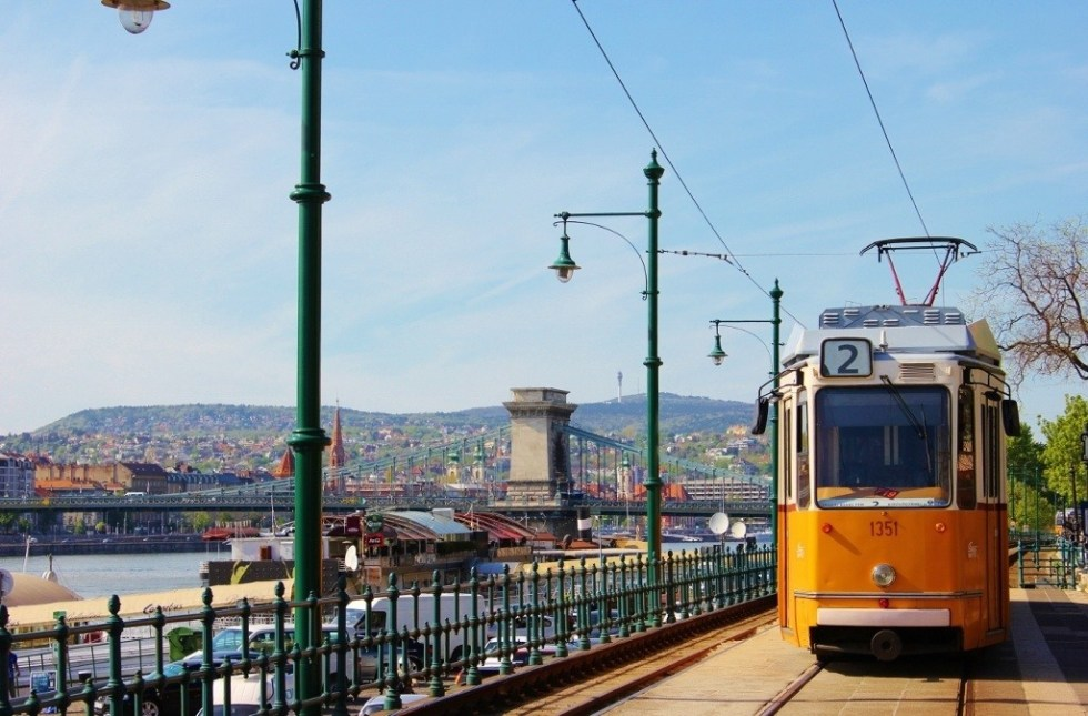Budapest on a tight budget: A ride on the historic tram only costs $1.25 a ticket - and got us back into the city center after our river cruise