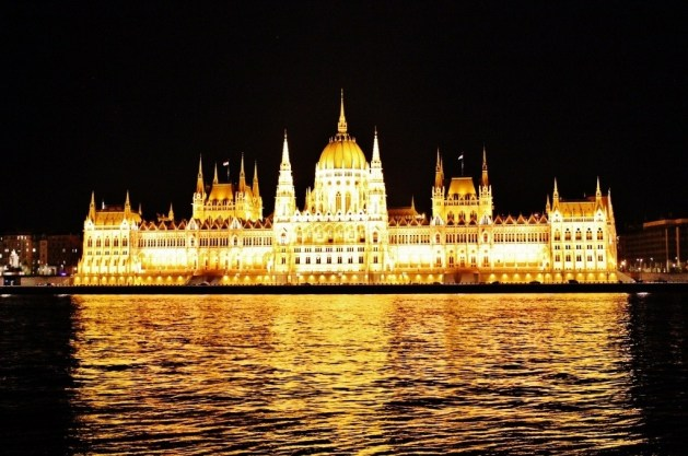 Spa Day and an Opera in Budapest: Parliament at night