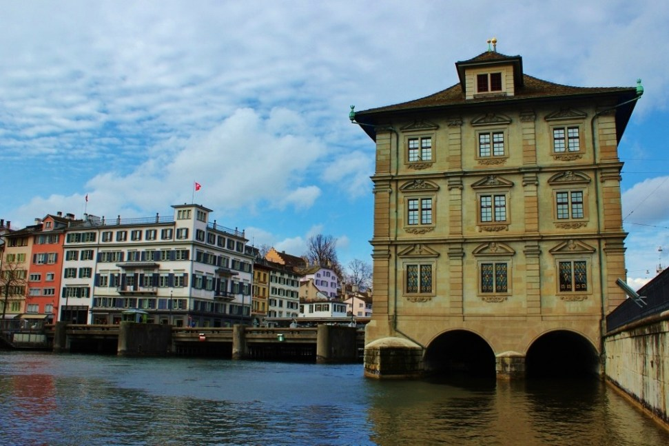 Town Hall Rathaus on River Limmat in Zurich, Switzerland JetSettingFools.com