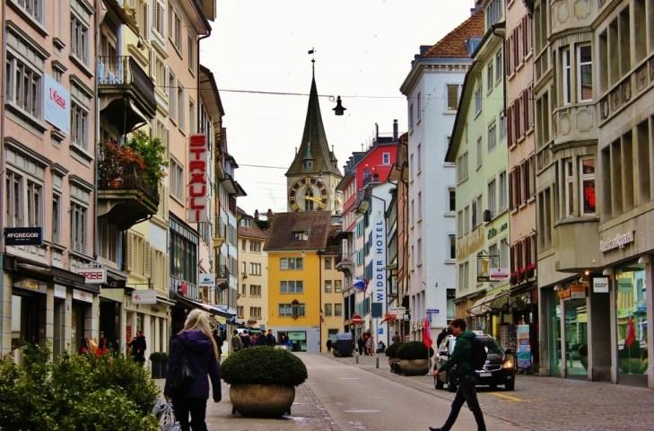 Historic Rennweg Street, Zurich, Switzerland JetSettingFools.com