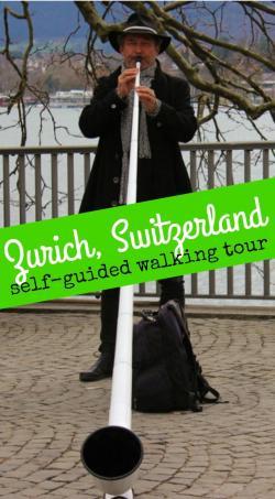 Zurich, Switzerland Man Playing Alphorn