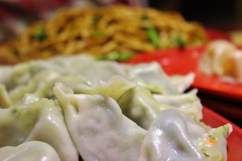 Ordering from the All-You-Can-Eat menu at the Dumpling House in Chinatown results in a stream of platters being delivered to your table.