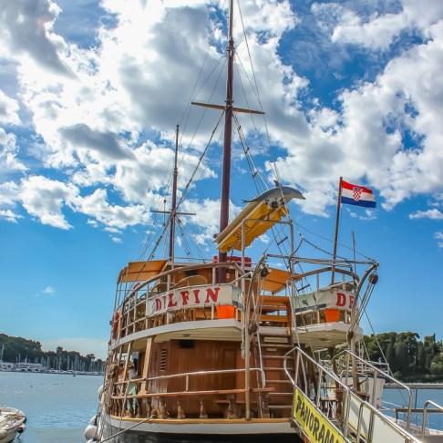Delfin cruise ship in Rovinj, Croatia