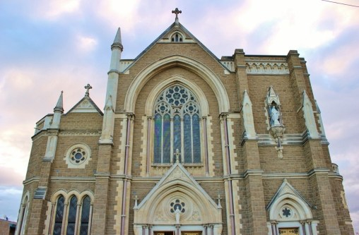 St. Mary Star of the Sea is a French Gothic style church that was consecrated in 1925