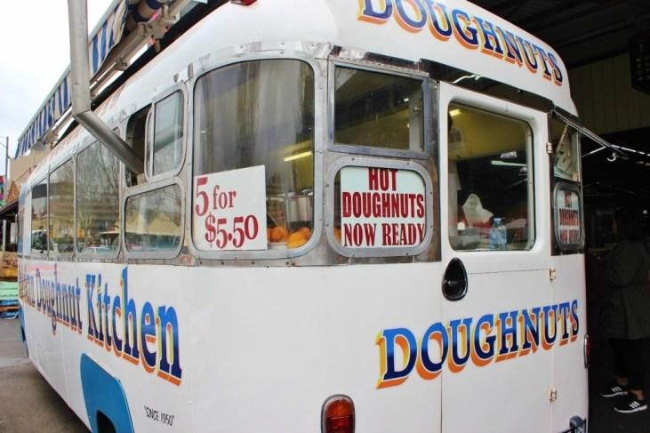 Hot doughnuts at the Queen Victoria Market