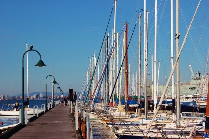 A pier in Williamstown, Australia
