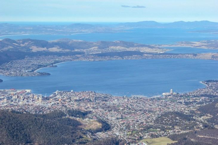 Views from Mt Wellington, Hobart, Tasmania, Australia