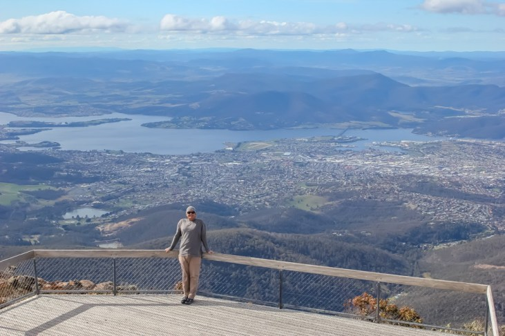 View from the top of Mt Wellington, Hobart, Tasmania, Australia
