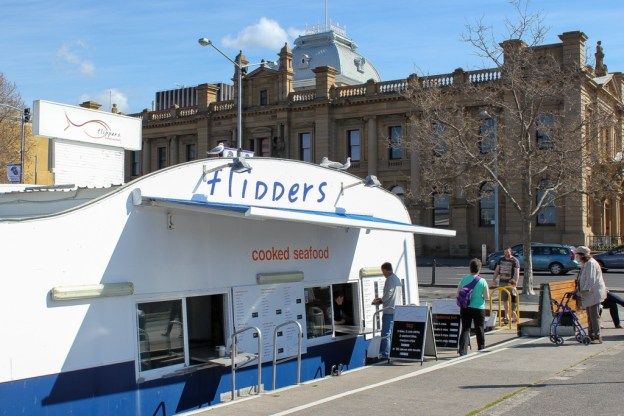 Flippers Fish & Chips, Hobart, Tasmania, Australia