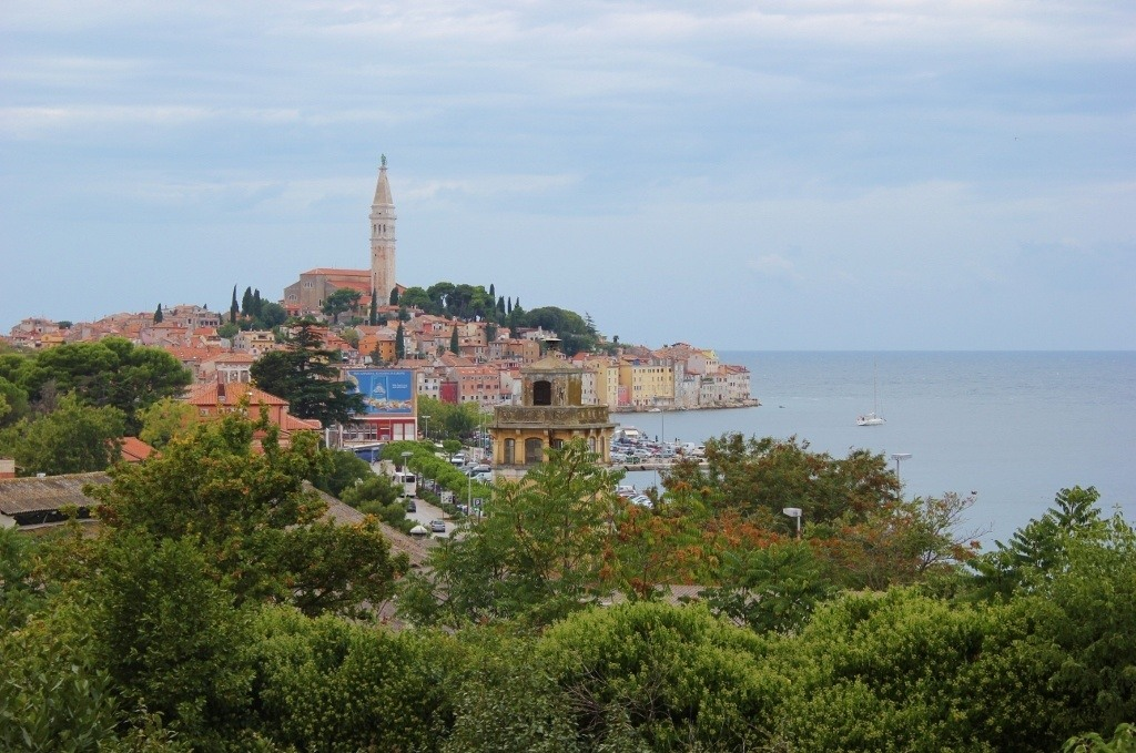 The views from Villa Dobravac - the first stop on our Rovinj Wine Walk - are amazing!