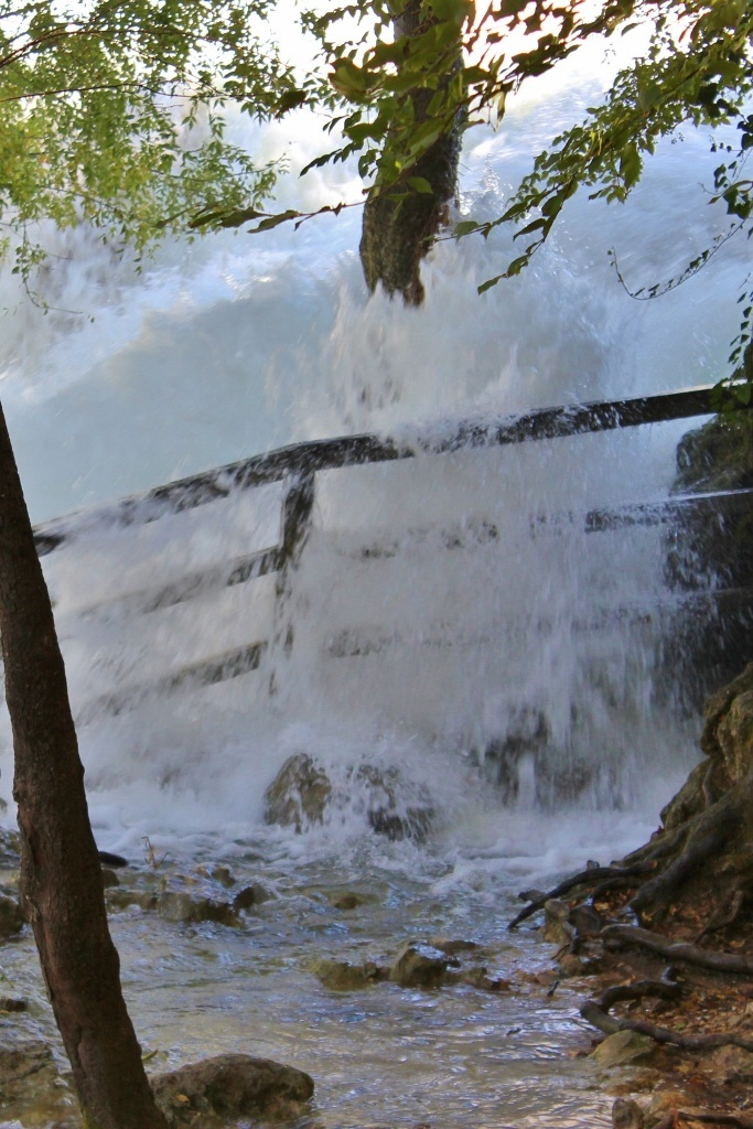 Water crashing over the bank at Krka National Park