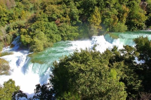 View over Krka Waterfalls, Croatia