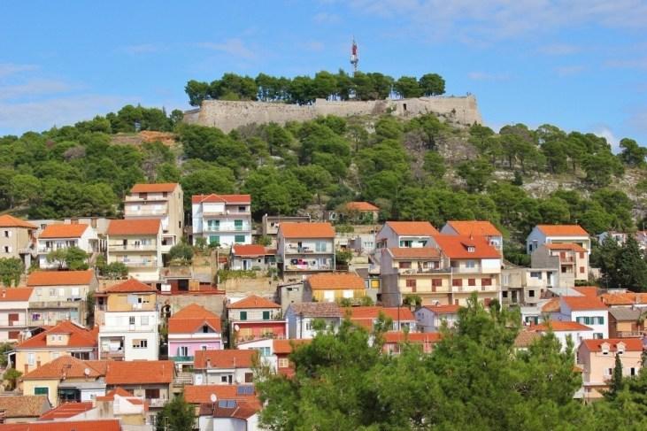Hill-topping St. John's Fort in Sibenik, Croatia