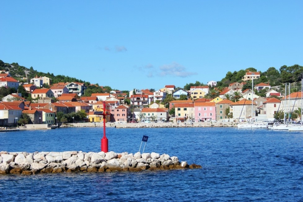 Harbor in Sali on Dugi Otok, Croatia