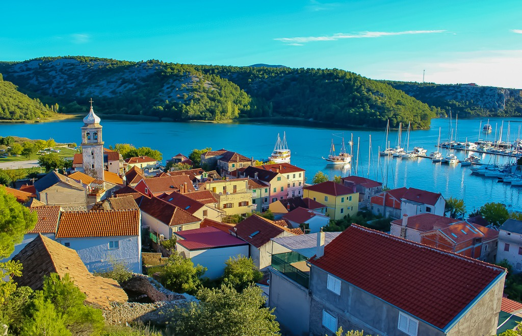 Rooftops of Skradin, Croatia from the Fort