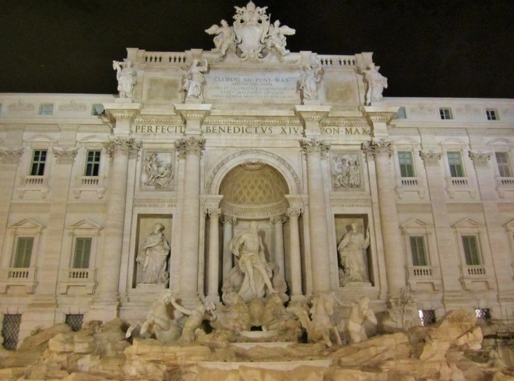 World Famous Trevi Fountain in Rome, Italy