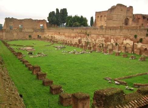 Rubble of Palatine Hill in Rome, Italy