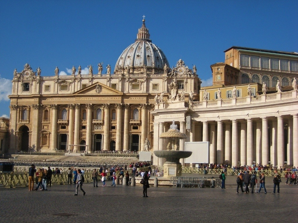 St. Peter's Basilica on St. Peter's Square in Vatican City, Rome, Italy