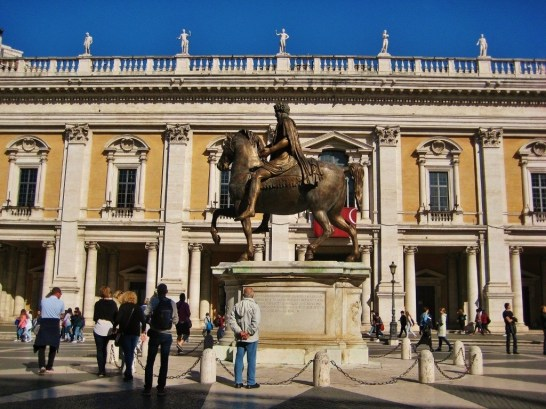 Capitoline Hill in Rome, Italy is one of the Seven Hills of Rome and center of Rome's Government