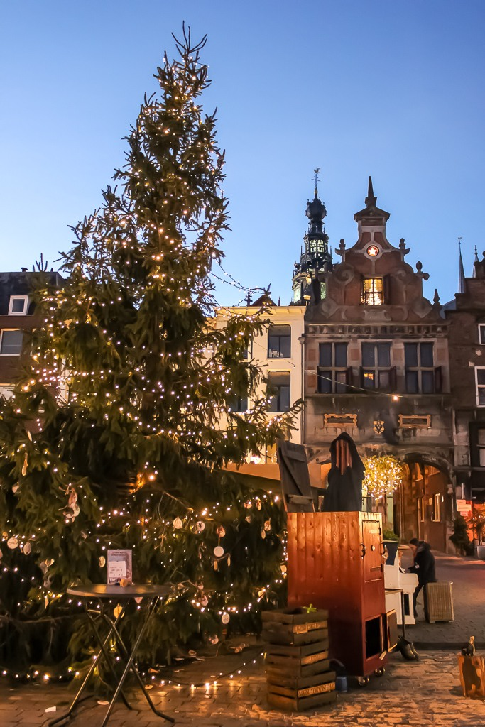 Christmas Tree on main square in Nijmegen, Netherlands