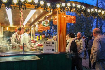 Food stall at the Klever Christmas Market in Germany