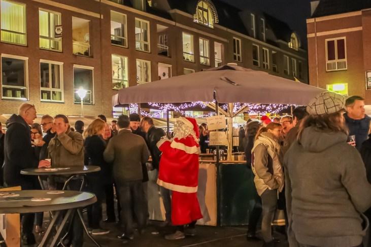 Santa at the Bar at the Beek Christmas Market near Nijmegen, Netherlands