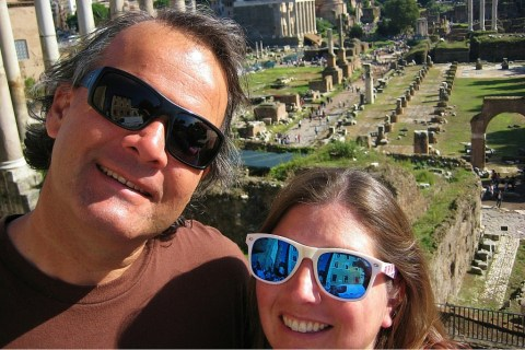 JetSetting Fools Sarah and Kris touring The Forum Rome Italy