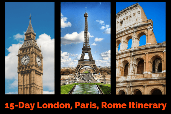 London Paris Rome Itinerary by JetSettingFools.com