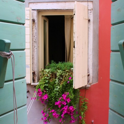 Using Airbnb in Rovinj, Croatia View out the wood-shutters