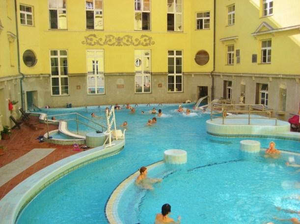 Budapest, Hungary Lukacs Thermal Baths Outdoor Pool JetSettingFools.com
