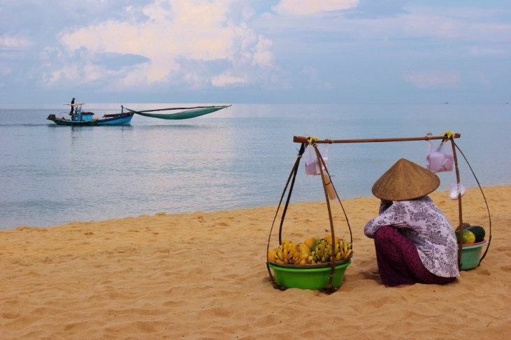 Watch the fishing boats on Phu Quoc Island during our 2-week Vietnam Itinerary