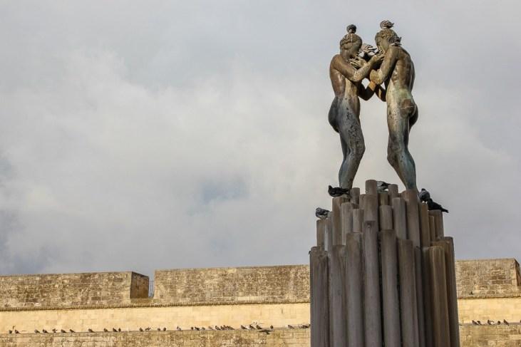 Fontana dellArmonia statue in Lecce, Italy