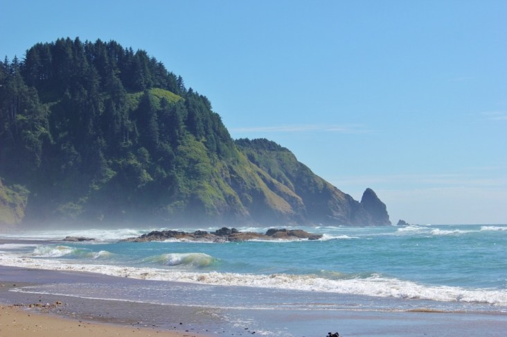 Hobbit Beach Trail, one of the hikes near Florence, Oregon, ends on a secluded beach