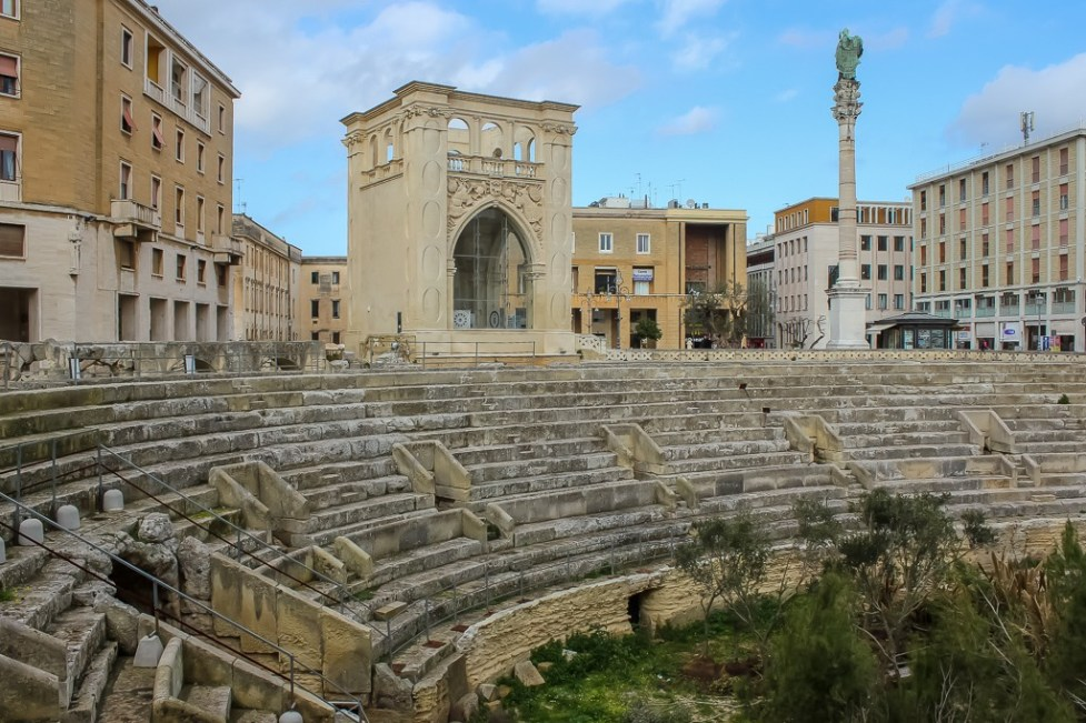 Unearthed Roman Amphitheater in Lecce, Italy