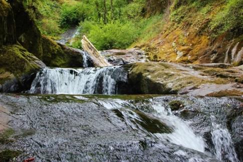 Sweet Creek Falls Waterfalls, one of the hikes near Florence, Oregon