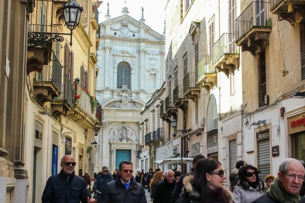 The evening stroll - Passeggiata - in Lecce, Italy