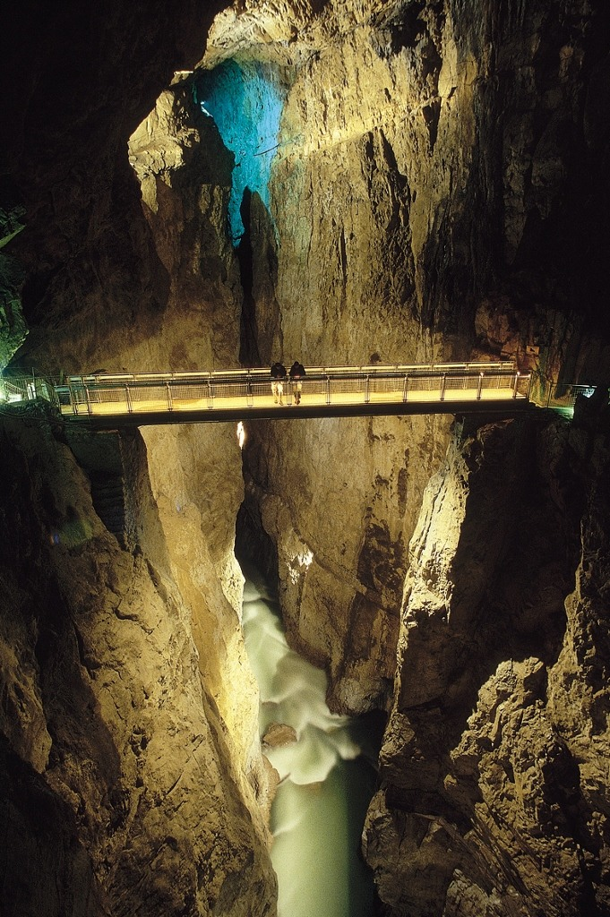 Bridge inside Skocjan Caves, Slovenia
