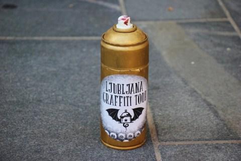 Ljubljana Graffiti Tour Spray Paint Can, Ljubljana Slovenia