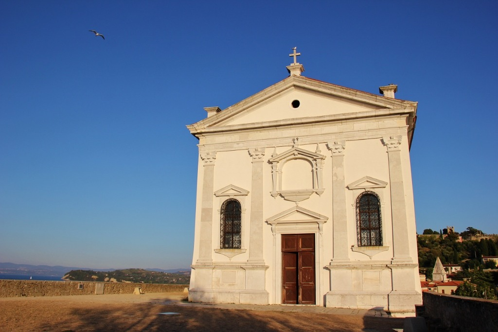 front facade of st-georges-church-piran-slovenia