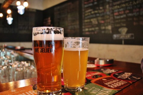 Craft beers on Samo Pivo craft beer bar in Belgrade, Serbia