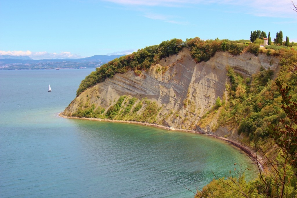Moon Bay - or St. Cross Bay - at Strunjan Nature Reserve in Slovenia