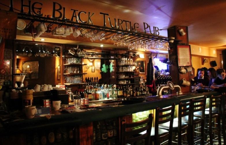 Bar at The Black Turtle Pub craft beer bar in Belgrade, Serbia