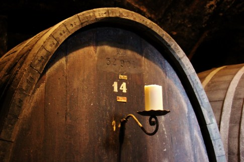 Large Oak Wine Barrel in Vinag Wine Cellar in Maribor, Slovenia
