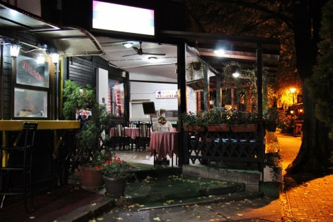 Cubura Restaurant patio in Belgrade, Serbia