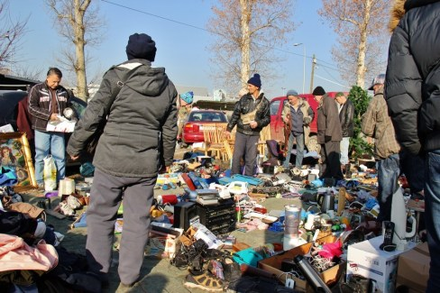 Everything's for sale at Autopija Flea Market in Osijek, Croatia