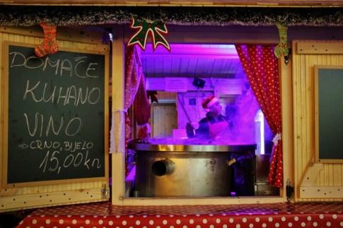 Kuhano Vino for sale during Christmas in Zagreb, Croatia