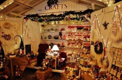 Local, handmade crafts for sale at Advent u Tvrdi in Osijek, Croatia