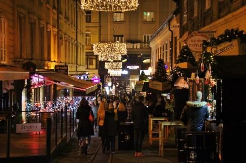 Fuliranje or Fooling Around Street on Tomiceva during Christmas in Zagreb, Croatia