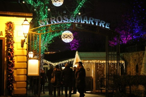 Advent on Stross at Strossmartre during Christmas in Zagreb, Croatia